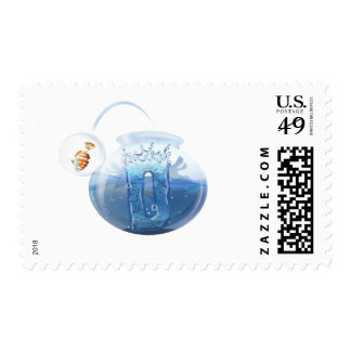 Fish Bowl Water Products Stamp