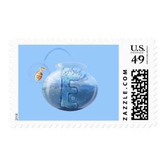 Fish Bowl Water Products Postage Stamp