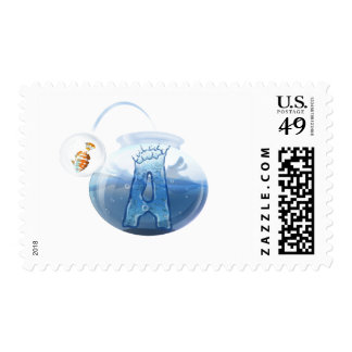 Fish Bowl Water Products Postage Stamps