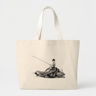 Fish / Boy Fishing Tote Bag