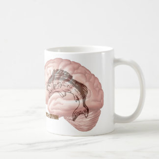 Fish Brain Classic White Coffee Mug
