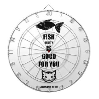 Fish Breath Is Good For You Dartboard With Darts