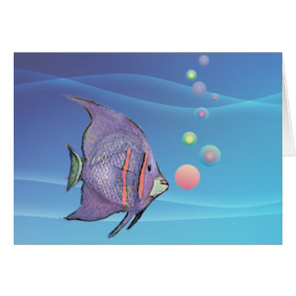 FISH BUBBLE by SHARON SHARPE Card