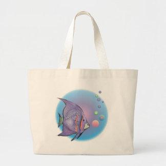 FISH BUBBLE by SHARON SHARPE Jumbo Tote Bag
