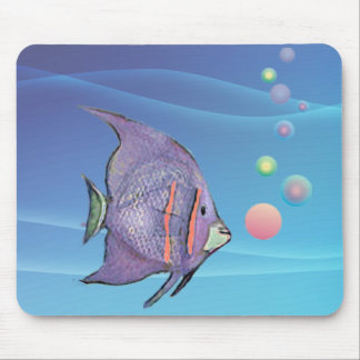 FISH BUBBLE by SHARON SHARPE Mouse Pad