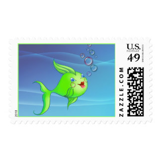FISH BUBBLE by SHARON SHARPE Postage