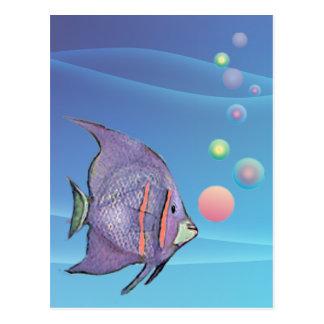 FISH BUBBLE by SHARON SHARPE Postcard