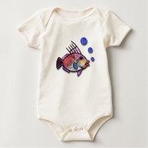 Fish Bubbles Baby Bodysuit