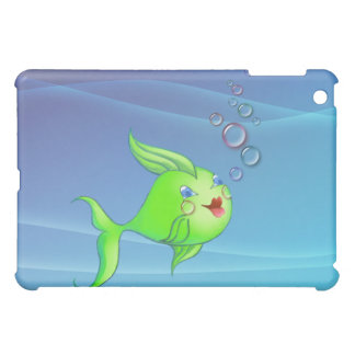 FISH BUBBLES by SHARON SHARPE iPad Mini Cover