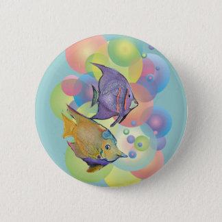 FISH BUBBLES by SHARON SHARPE Pinback Button