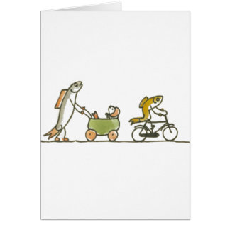 Fish Buggy and Bike Card