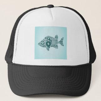 Fish business trucker hat