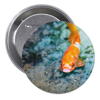 Fish 3 Inch Round Button