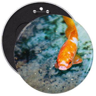 Fish 6 Inch Round Button
