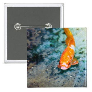 Fish 2 Inch Square Button