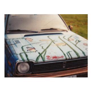 Fish Car (blurry, sorry) Postcard