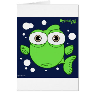 Fish Card, Standard white envelopes included Card