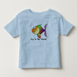Fish Cartoon Joy to the World toddler Tee
