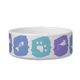 Fish, Cat Paw and Toy Mouse Cat Water Bowl