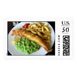 Fish, Chip, Mushy Peas Postage