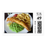 Fish, Chip, Mushy Peas Postage Stamps