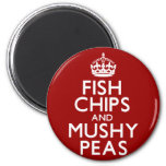 Fish Chips and Mushy Peas Magnets