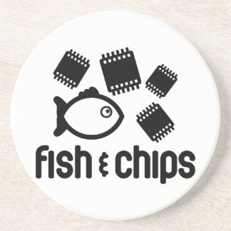 Fish Chips Coasters