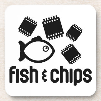 Fish Chips Drink Coaster