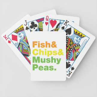 Fish & Chips & Mushy Peas. Bicycle Playing Cards