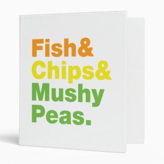 Fish & Chips & Mushy Peas. Binder