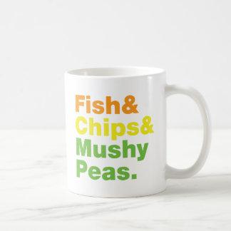 Fish & Chips & Mushy Peas. Coffee Mug