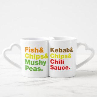 Fish & Chips & Mushy Peas. Coffee Mug Set