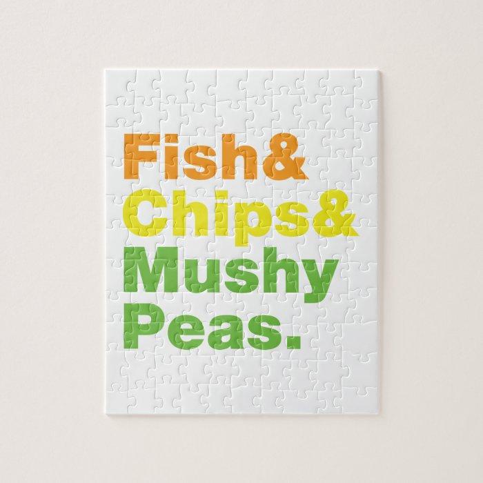 Fish & Chips & Mushy Peas. Jigsaw Puzzle