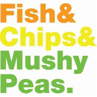 Fish & Chips & Mushy Peas. Statuette