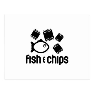 Fish & Chips Postcard
