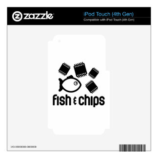Fish & Chips iPod Touch 4G Decal