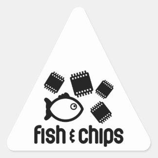 Fish & Chips Triangle Sticker