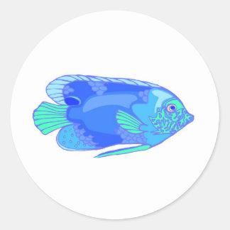 fish classic round sticker