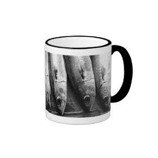 Fish closeup in black and white ringer mug
