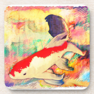 Fish collage drink coasters