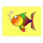 Fish: Colorful cartoon fish Postcard