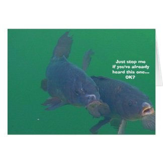 Fish comedian card