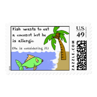 Fish Considers It Postage Stamp