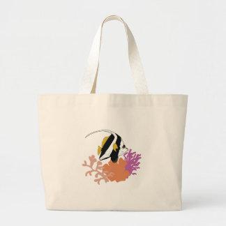 Fish & Coral Large Tote Bag