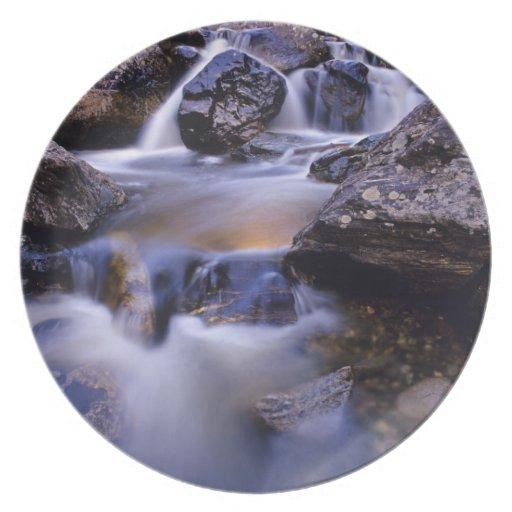 Fish Creek Falls near Steamboat Springs Colorado Party Plate