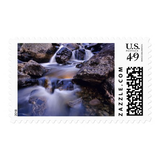 Fish Creek Falls near Steamboat Springs Colorado Postage Stamp