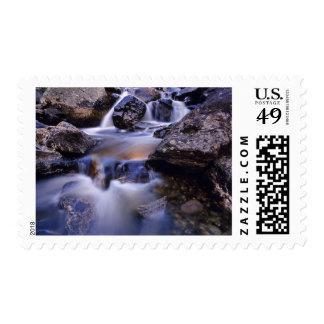 Fish Creek Falls near Steamboat Springs Colorado Postage Stamp