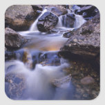 Fish Creek Falls near Steamboat Springs Colorado Square Stickers