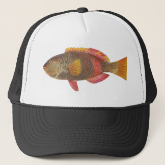 Fish - Crimson-Banded Parrot Fish Trucker Hat