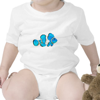 Fish Cyan Vero Beach 2010 The MUSEUM Zazzle Gifts Rompers